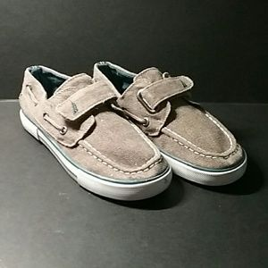 Boys Nautical Canvas Boat Shoes 12